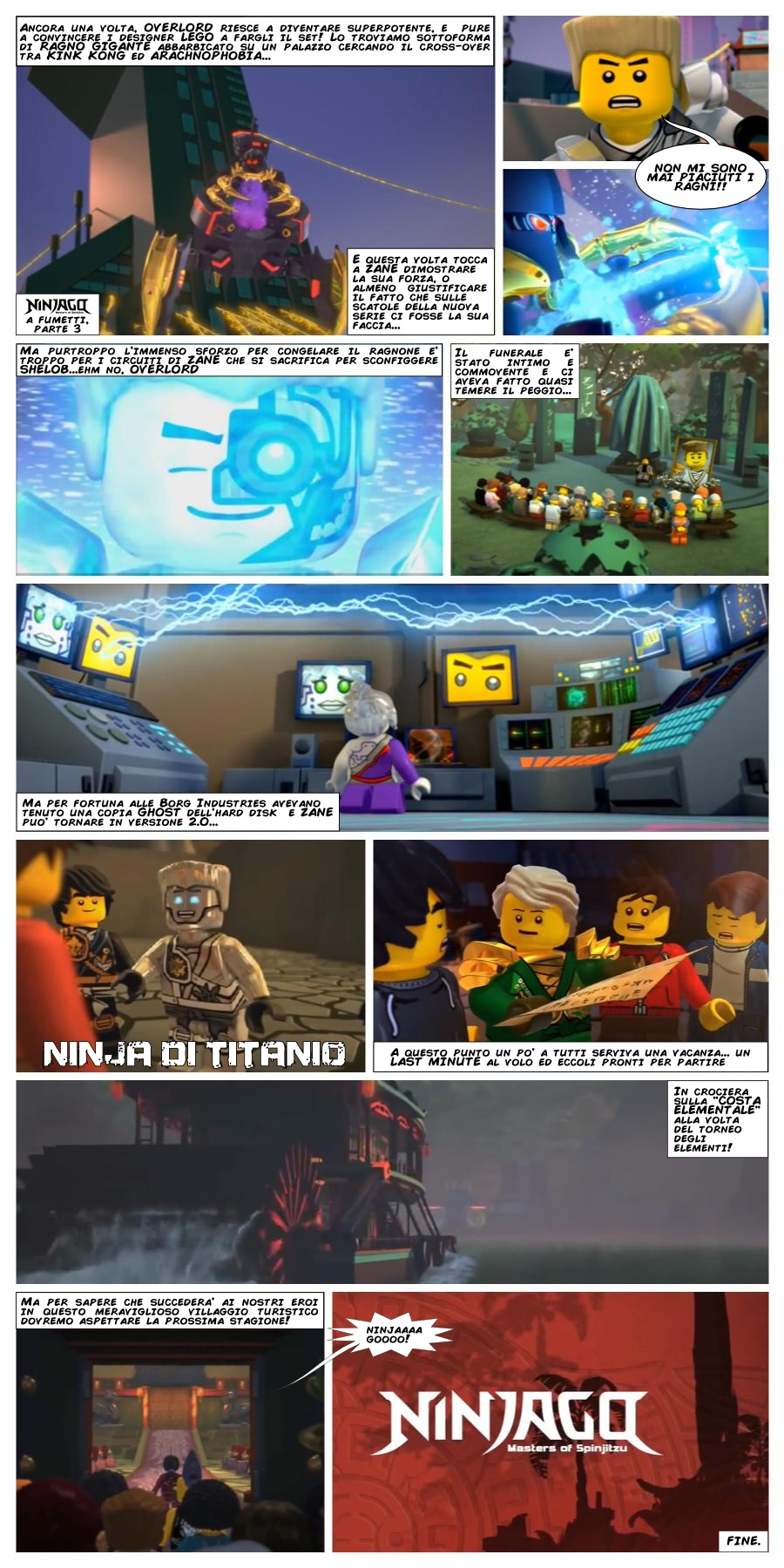Point brick lego ninjago a fumetti parte