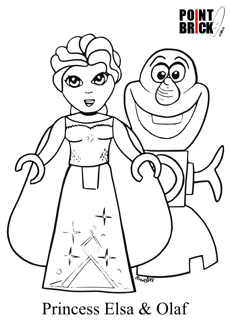 Coloring Pages Lego Frozen : Point brick disegni da colorare lego frozen e bionicle