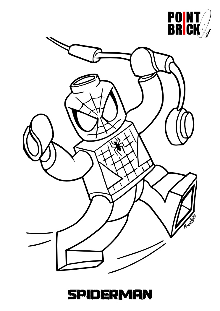 mini coloring pages spiderman - photo#16