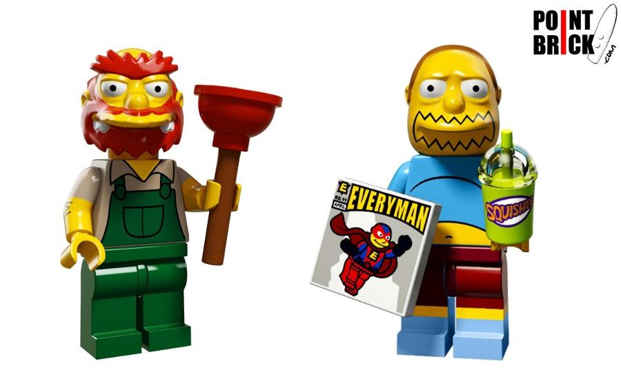 Point brick immagini minifigures lego the simpsons