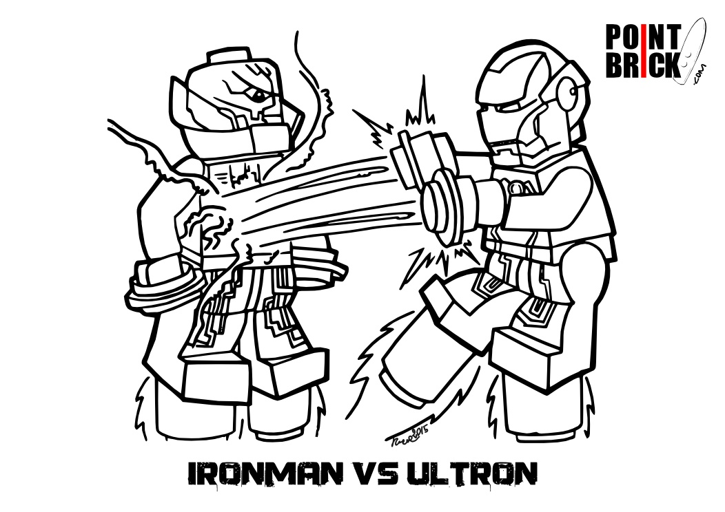 Point Brick Blog Disegni Da Colorare Lego Ironman Ultron E Azari
