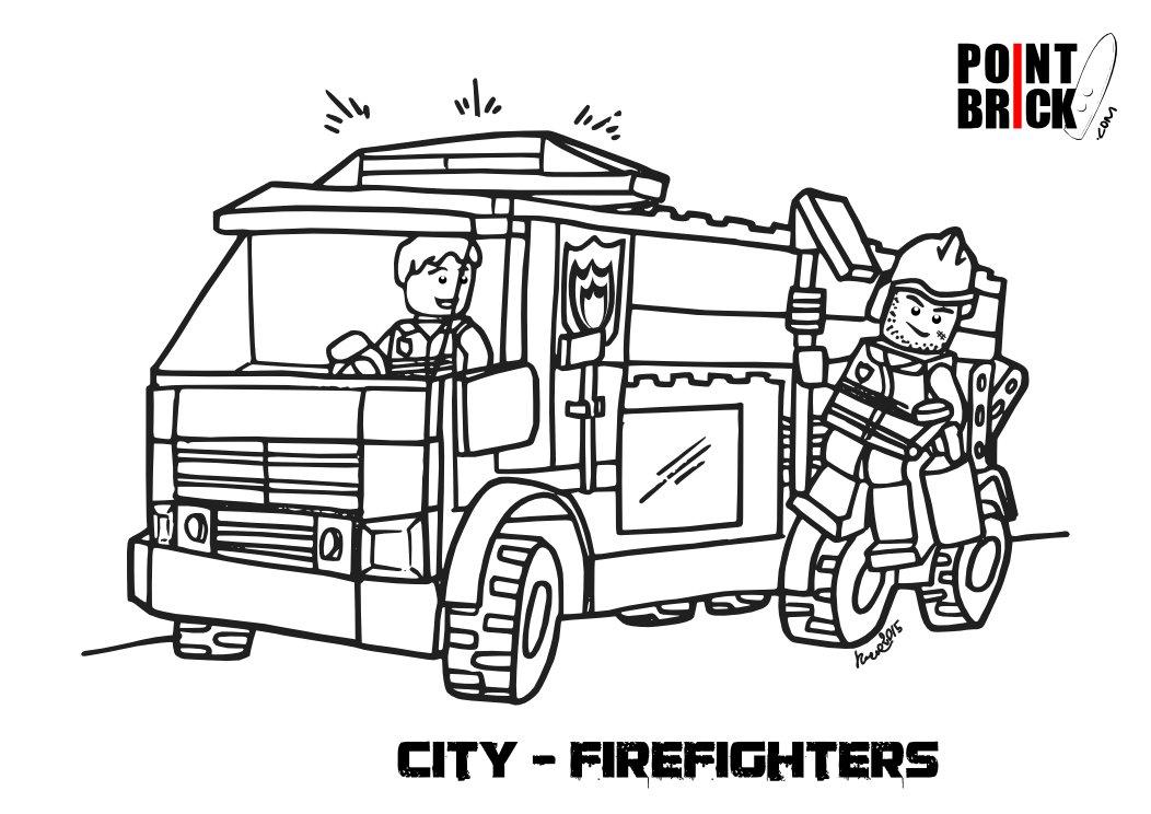 Point Brick Blog Disegni Da Colorare Lego City Polizia E Pompieri