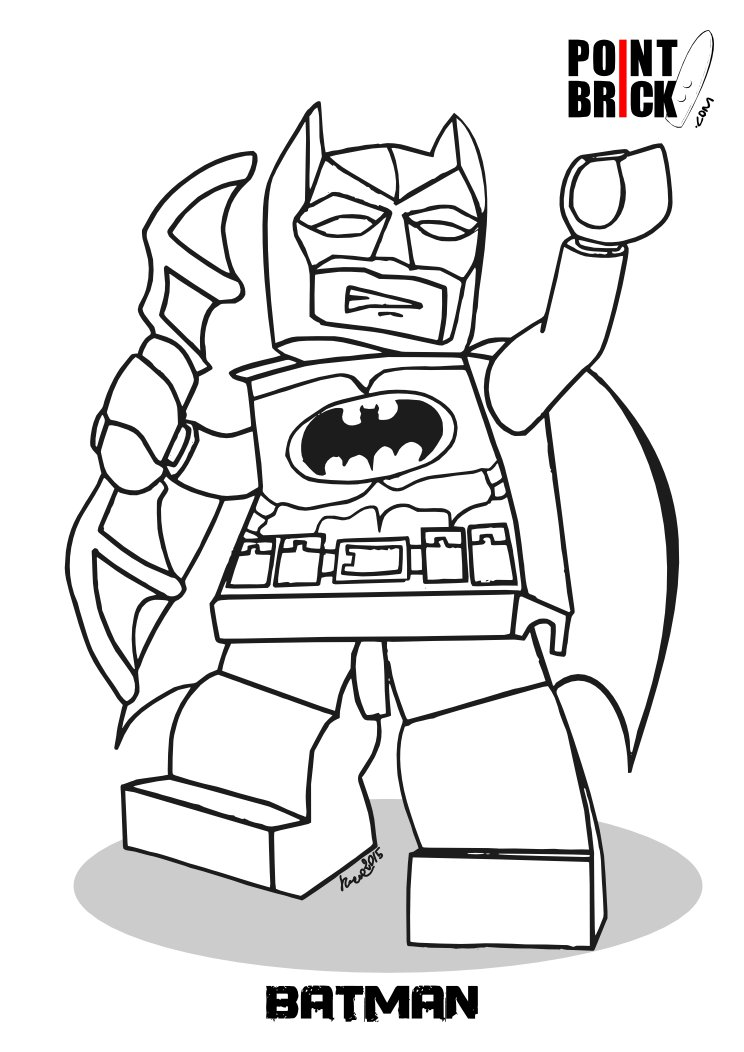 disegni da colorare lego batman 3