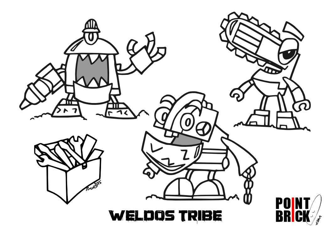 LEGO Coloring Pages This week the crazy world of Mixels with 2