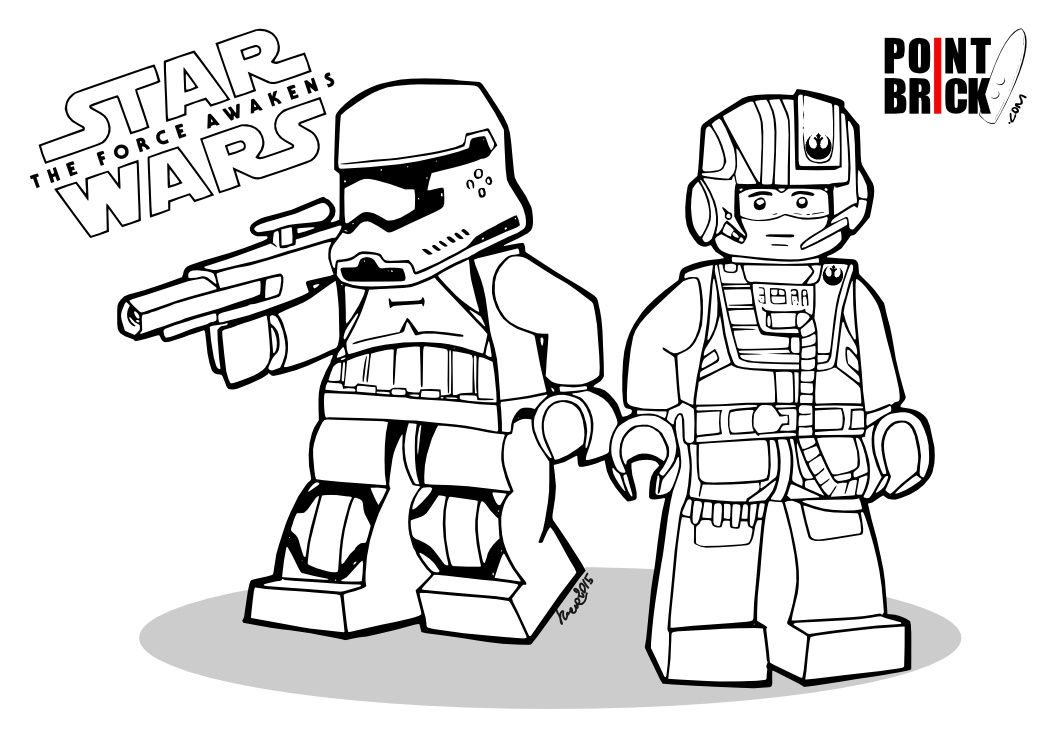 Point Brick Blog Disegni Da Colorare Star Wars The Force Awakens