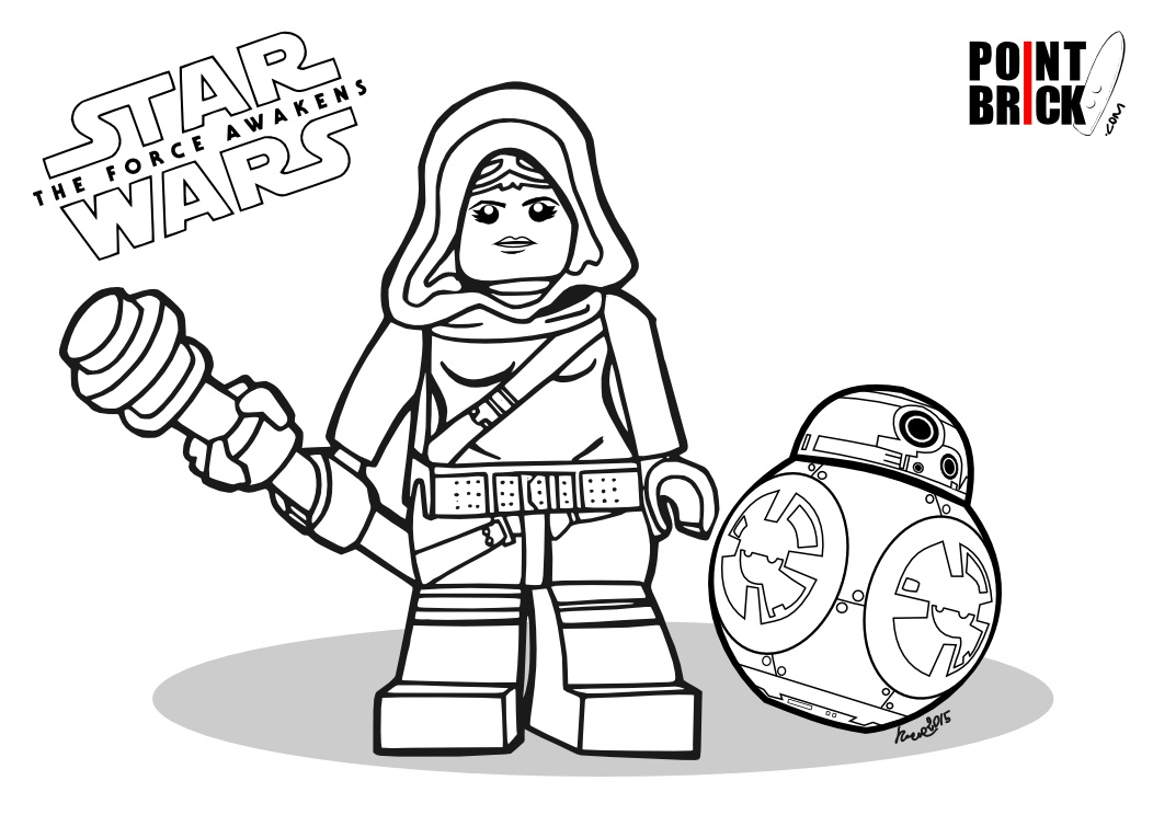 disegni da colorare star wars the force awakens