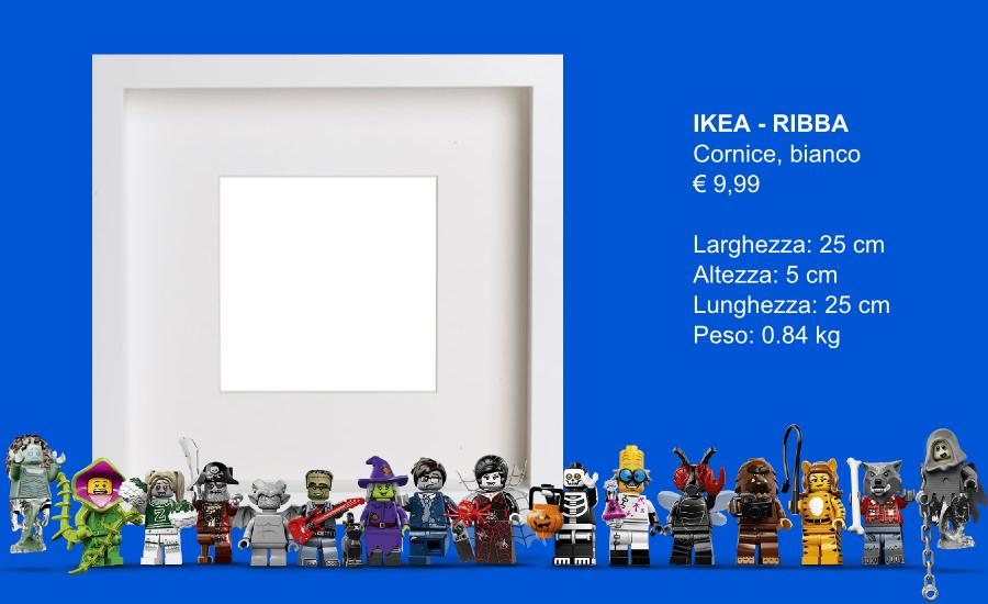 Point brick blog ikea hack lego minifigures display for Cornice ribba ikea