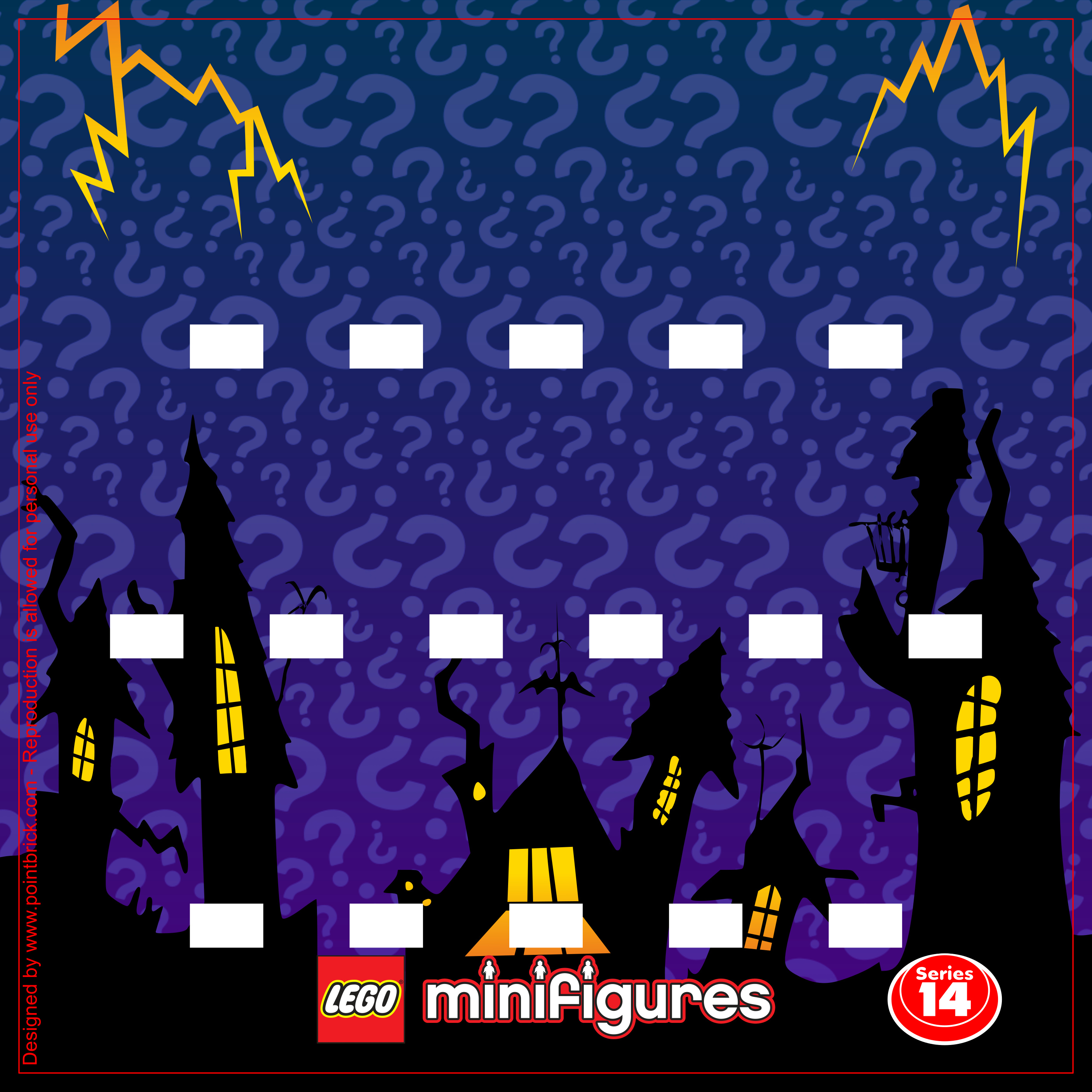 IKEA Ribba Hack - LEGO Minifigures Display Frame Background - 71010 Serie 14 Halloween Monsters - Clicca sull'immagine per scaricarla gratuitamente!