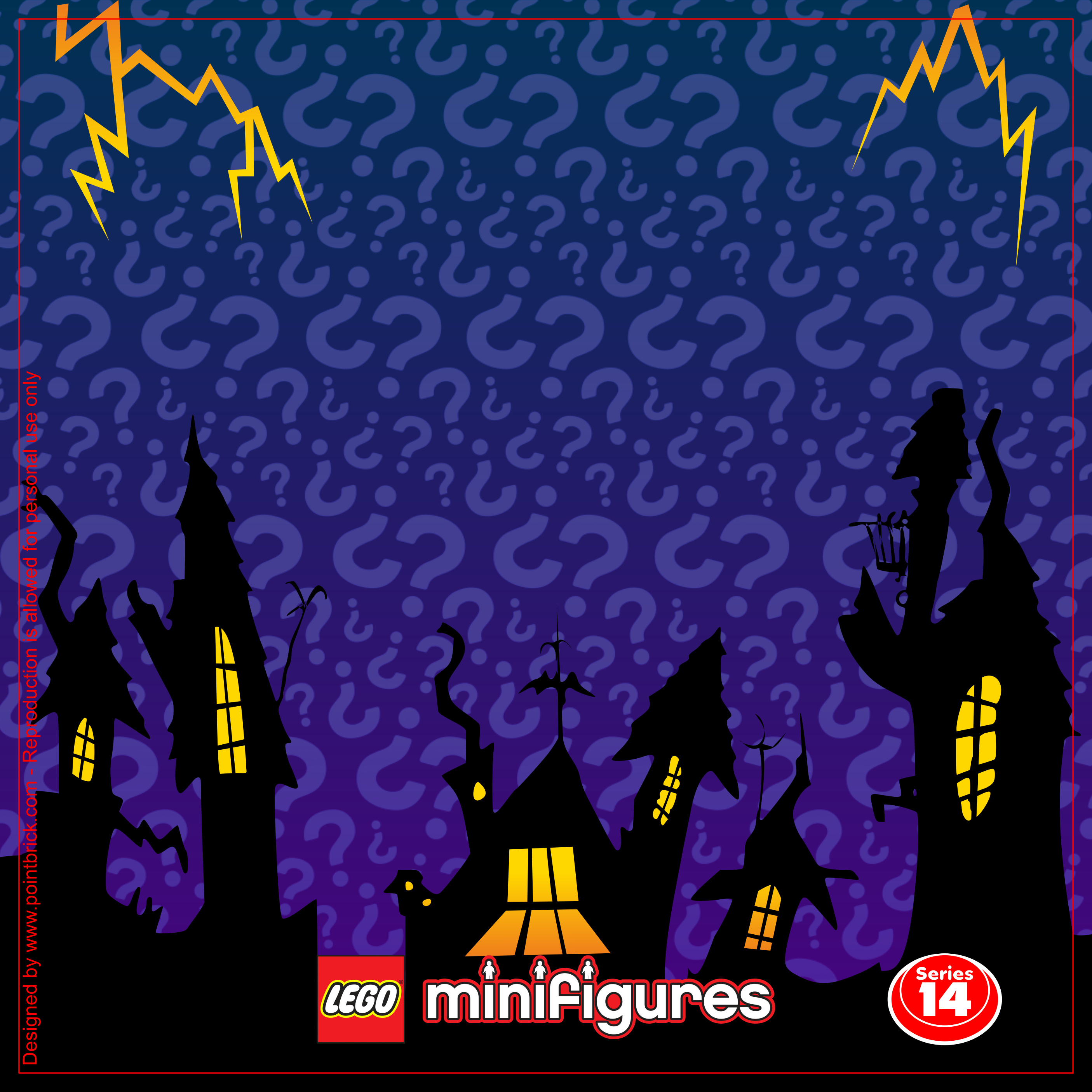 IKEA Ribba Hack - LEGO Minifigures Display Frame Plain Background - 71010 Serie 14 Halloween Monsters - Clicca sull'immagine per scaricarla gratuitamente!