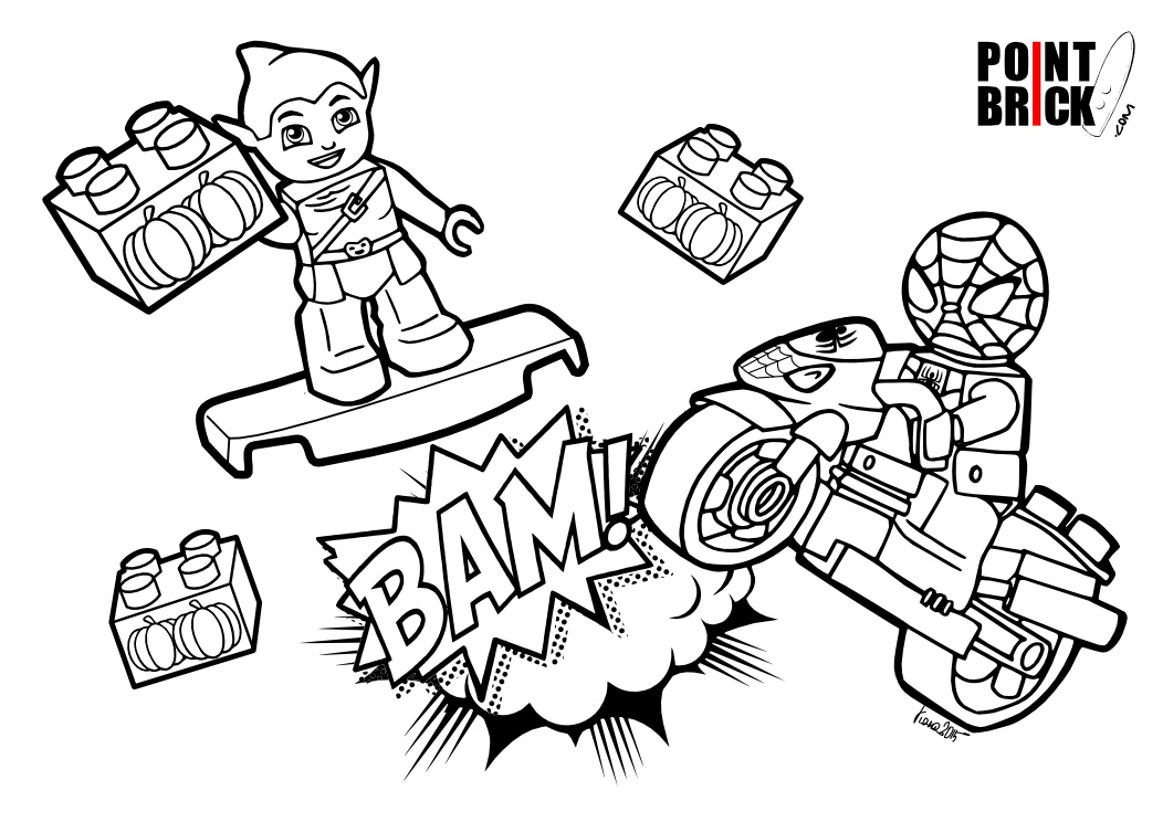 Point Brick Blog Disegni Da Colorare Spiderman E Dottssa Peluche