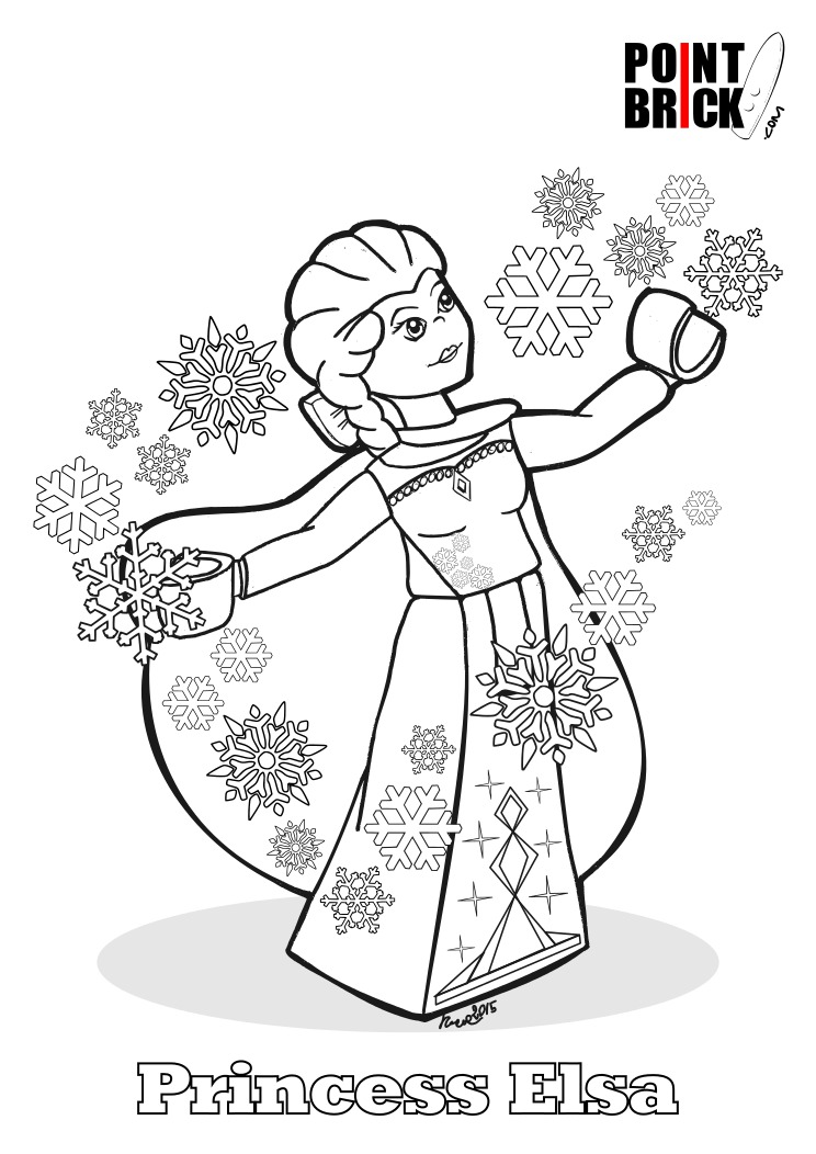 Coloring Pages Lego Frozen : Point brick disegni da colorare lego hulk ed elsa