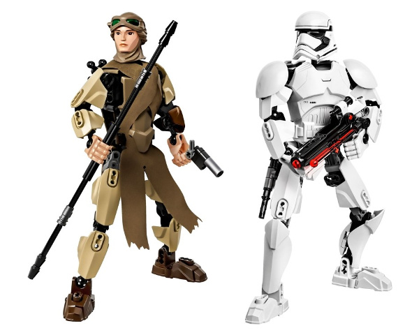 LEGO Star Wars Constraction 75113 e 75114 - Rey e Stormtrooper