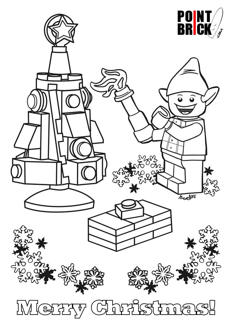 Point Brick Blog Disegni Da Colorare Lego Buon Natale A Tutti