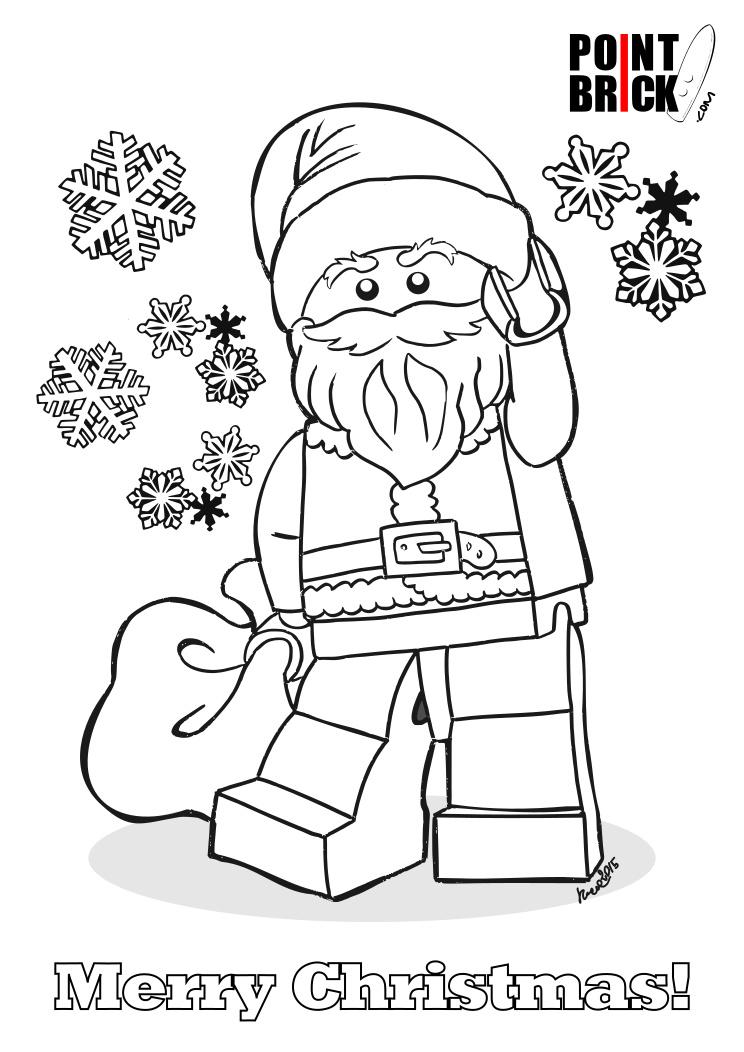 christmas minecraft coloring pages | Point Brick Blog: Disegni da Colorare Lego: Buon Natale a ...