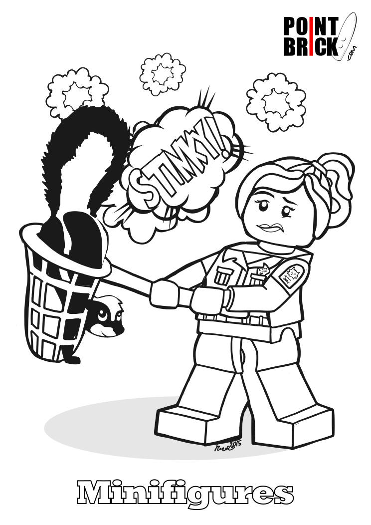 point brick blog  disegni da colorare lego  minifigures
