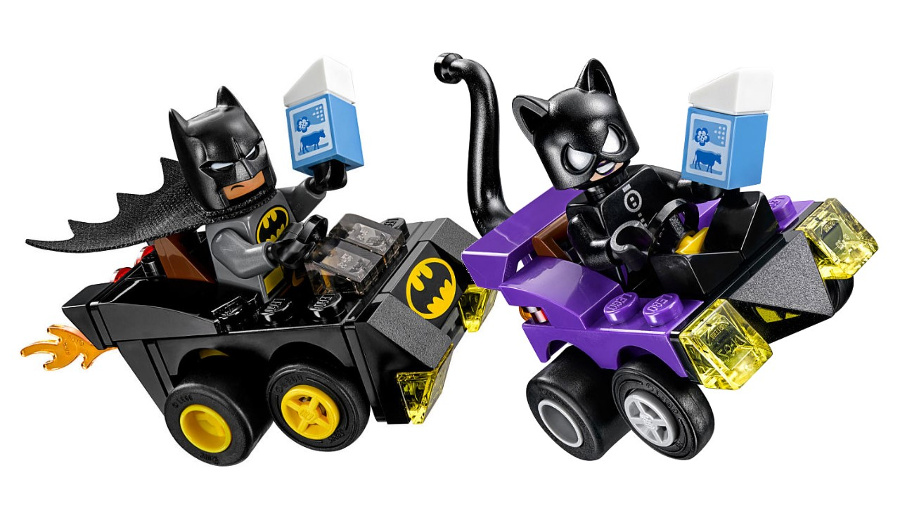 LEGO Mighty Micros - Dc Comics Super Heroes - 76061 Batmobile e Catmobile