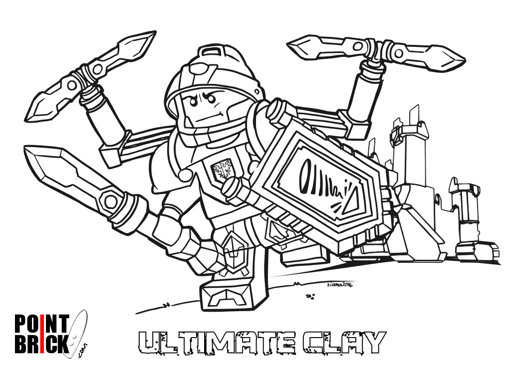 lego knights coloring pages - nexo clay lego knights coloring pages sketch coloring page