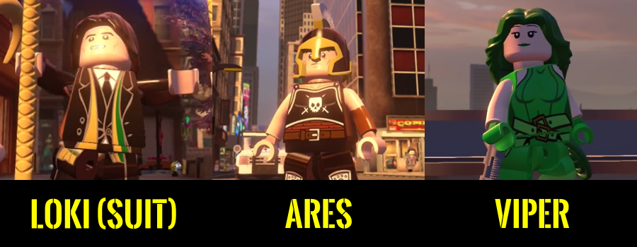 Awesome Collezionabili: Lego MARVEL Avengers The Videogame   Loki Suit   Ares    Viper