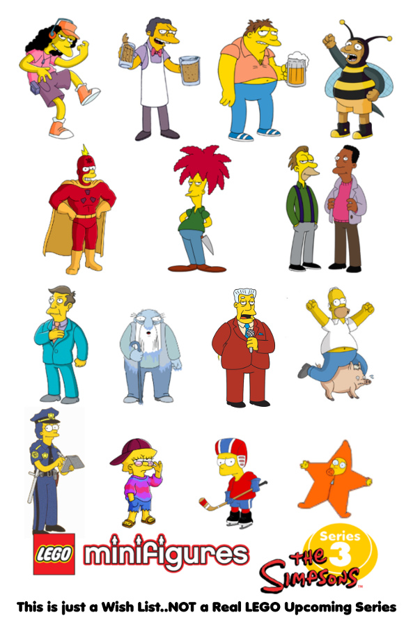 LEGO The Simpsons Minifigures - Hypotetical Series 3