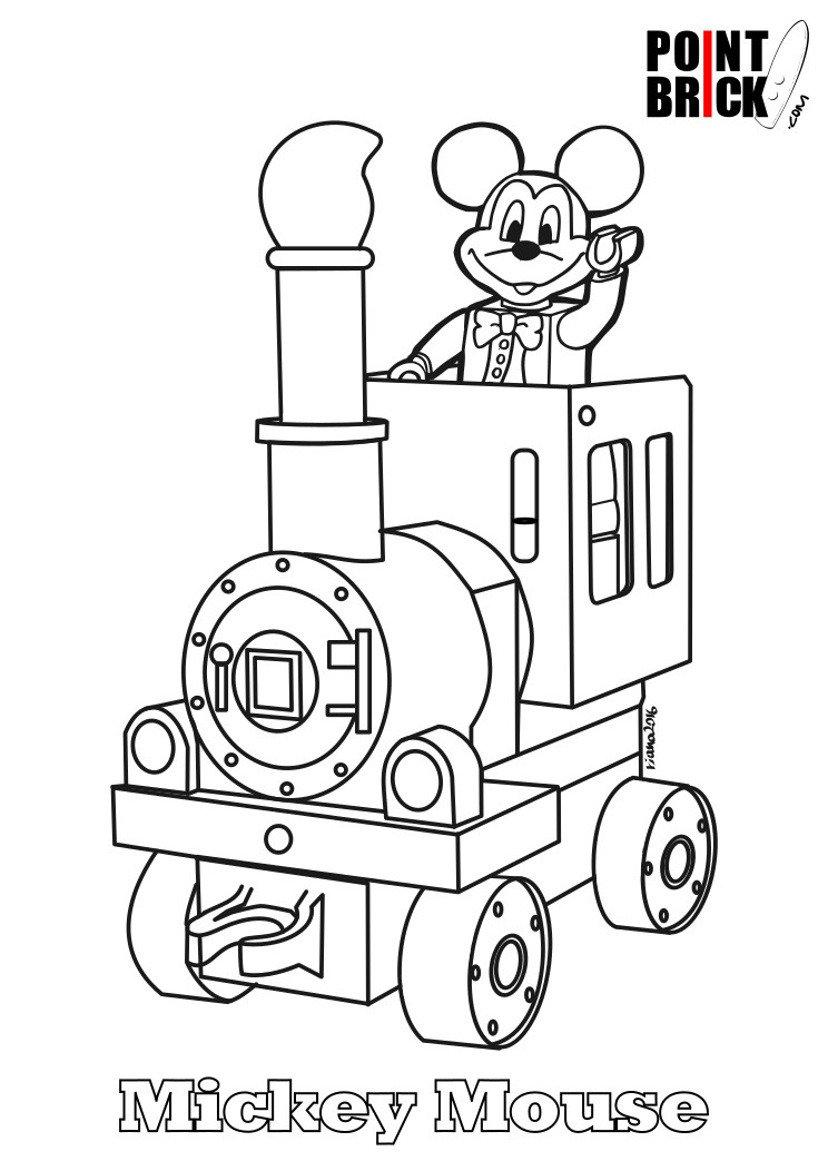 Point Brick Blog Disegni Da Colorare Lego Disney Topolino E Minnie