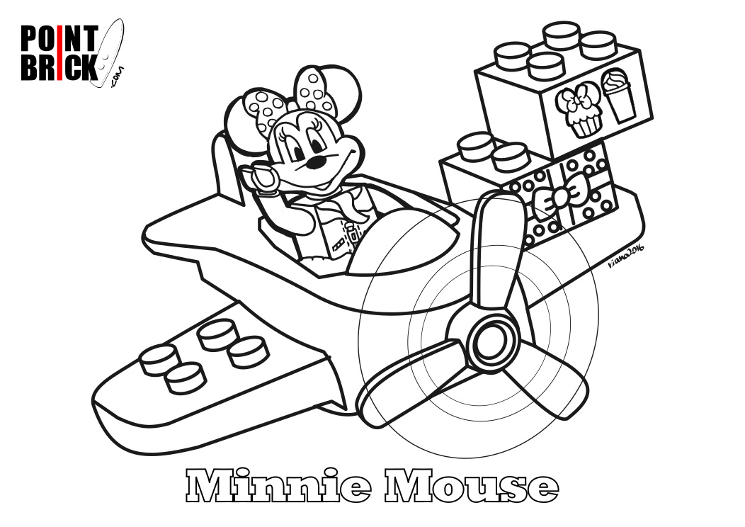 Immagini Minnie Da Colorare: Point Brick Blog: Disegni Da Colorare Lego Disney