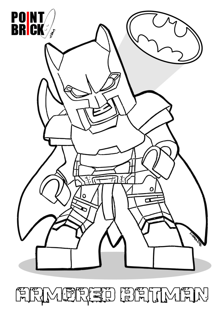 Point Brick Blog Disegni Da Colorare Lego Dc Batman V Superman