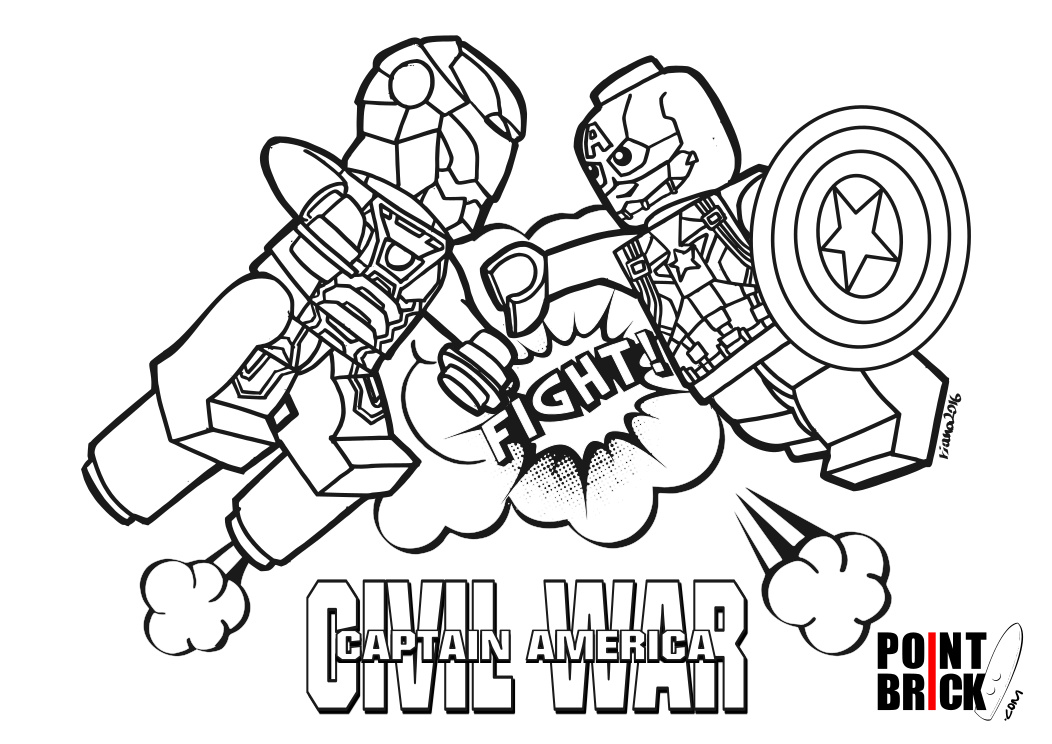Point Brick Blog Disegni Da Colorare Lego Marvel Civil War Elves