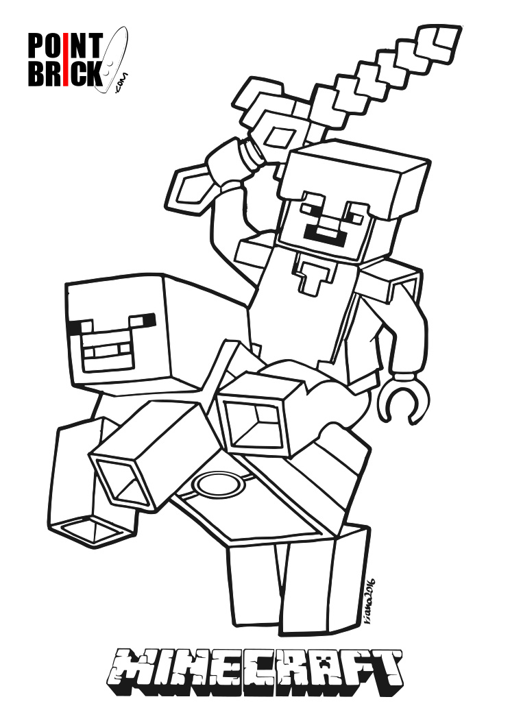 minecraft steve coloring pages - point brick blog disegni da colorare lego minecraft