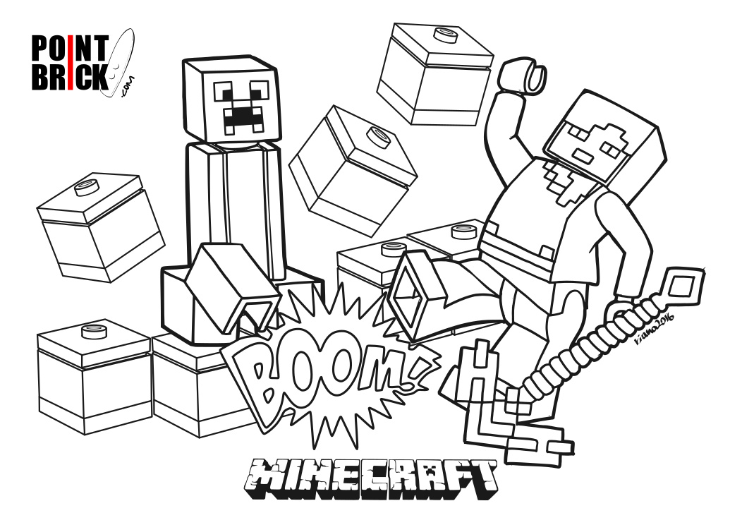 point brick blog disegni da colorare lego minecraft