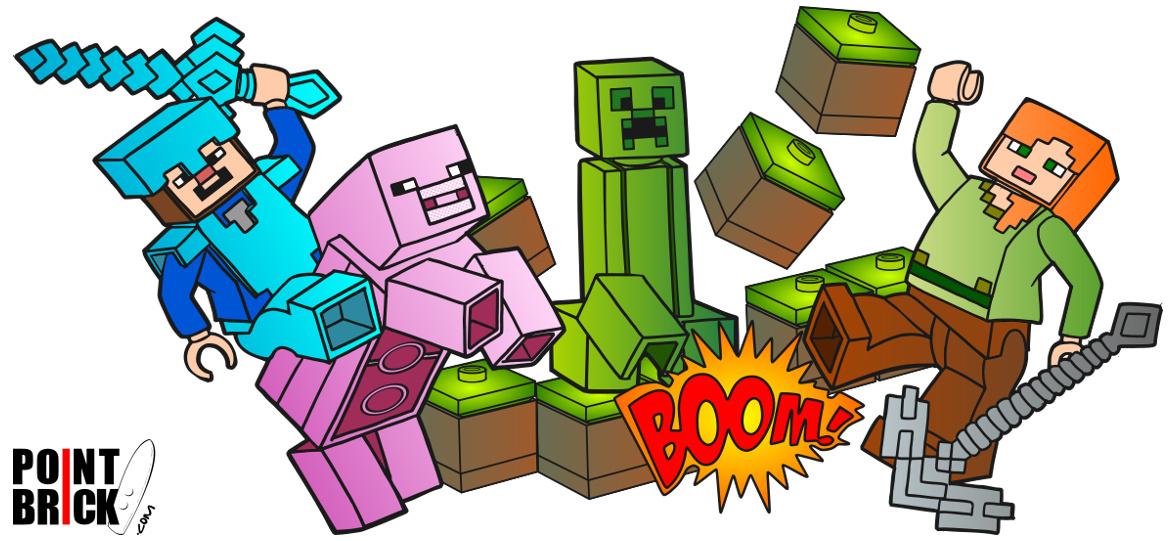 Point Brick Blog Disegni Da Colorare Lego Minecraft