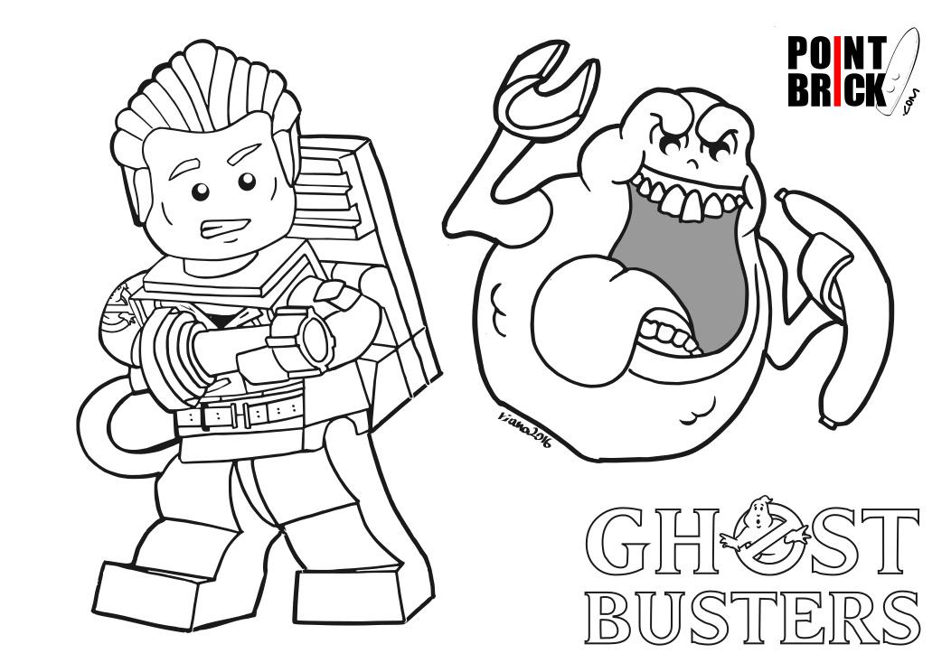 Point Brick Blog Disegni Da Colorare Lego Ghostbusters E Wall E