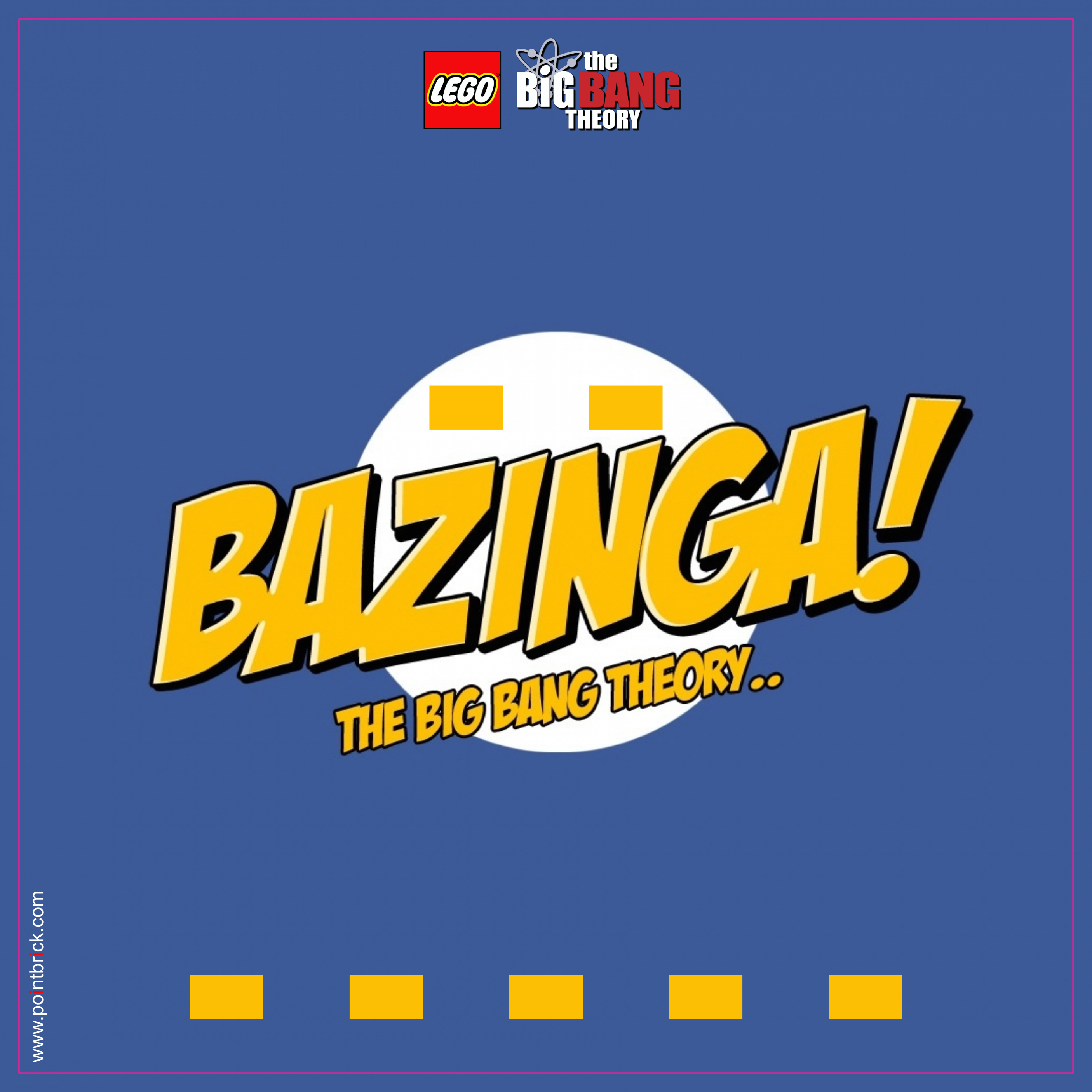 LEGO Minifigures Display Frame - Background 230mm The Big Bang Theory - Bazinga - Clicca sull'immagine per scaricarla gratuitamente!