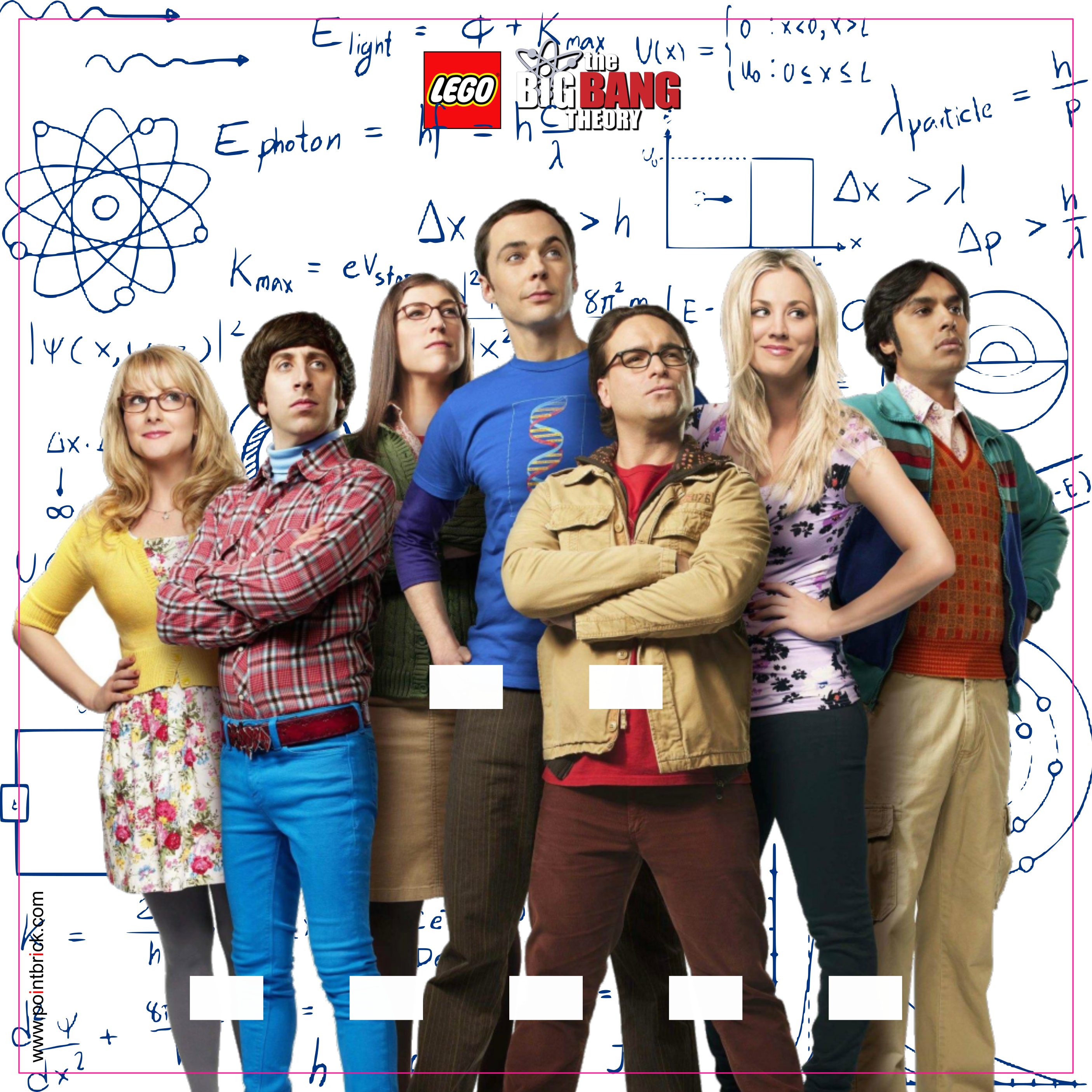 LEGO Minifigures Display Frame - Background 230mm The Big Bang Theory - Formula - Clicca sull'immagine per scaricarla gratuitamente!