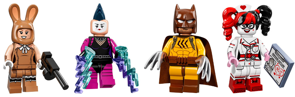 LEGO Minifigures 71017 Serie Speciale Batman The Movie - March Harriet - Mime - Catman - Nurse Harley Quinn