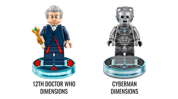 LEGO Minifigures Display Frame - Lego Dimensions 71204 e 71238 Doctor Who e Cyberman Minifigures