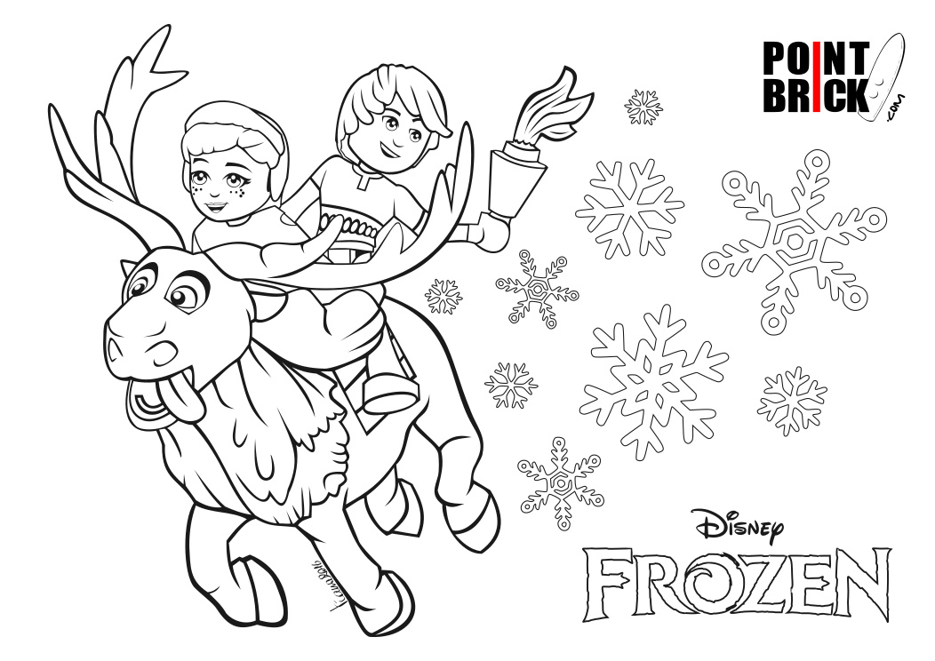 Point brick blog disegni da colorare lego disney oceania for Disegni frozen da colorare