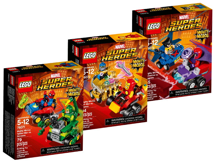 LEGO Mighty Micros Serie 2 Collezione set Marvel Super Heroes