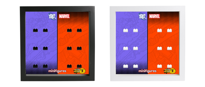 Display Frames Cornici espositore - LEGO Minifigures Mighty Micros Serie 2
