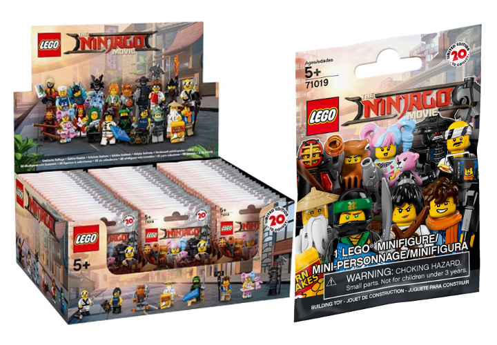 LEGO Minifigures 71019 The LEGO Ninjago Movie - Box espositore e bustina