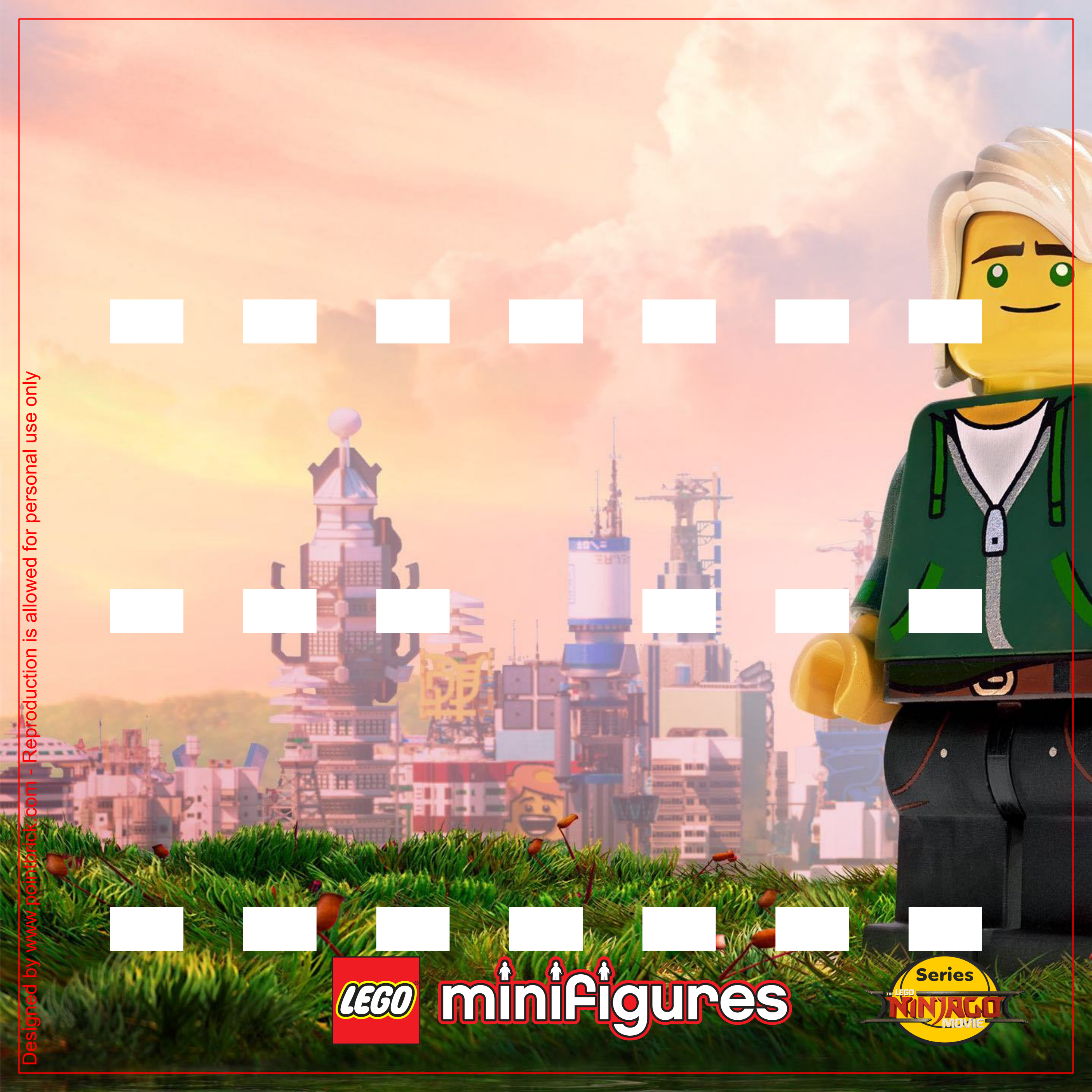 LEGO Minifigures 71019 The LEGO Ninjago Movie - Display Frame Background 230mm - Clicca sull'immagine per scaricarla gratuitamente!