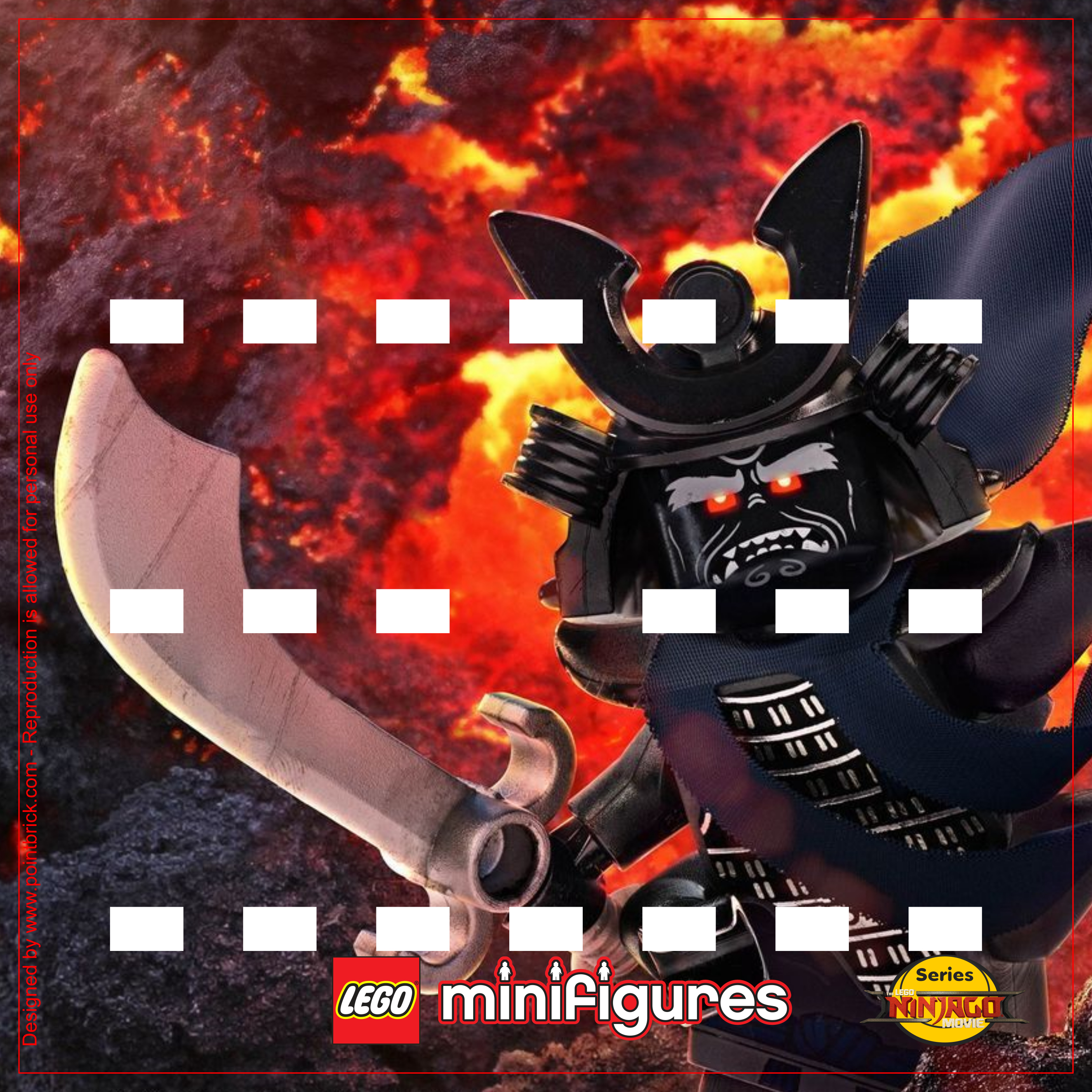 LEGO Minifigures 71019 The LEGO Ninjago Movie Garmadon - Display Frame Background 230mm - Clicca sull'immagine per scaricarla gratuitamente!