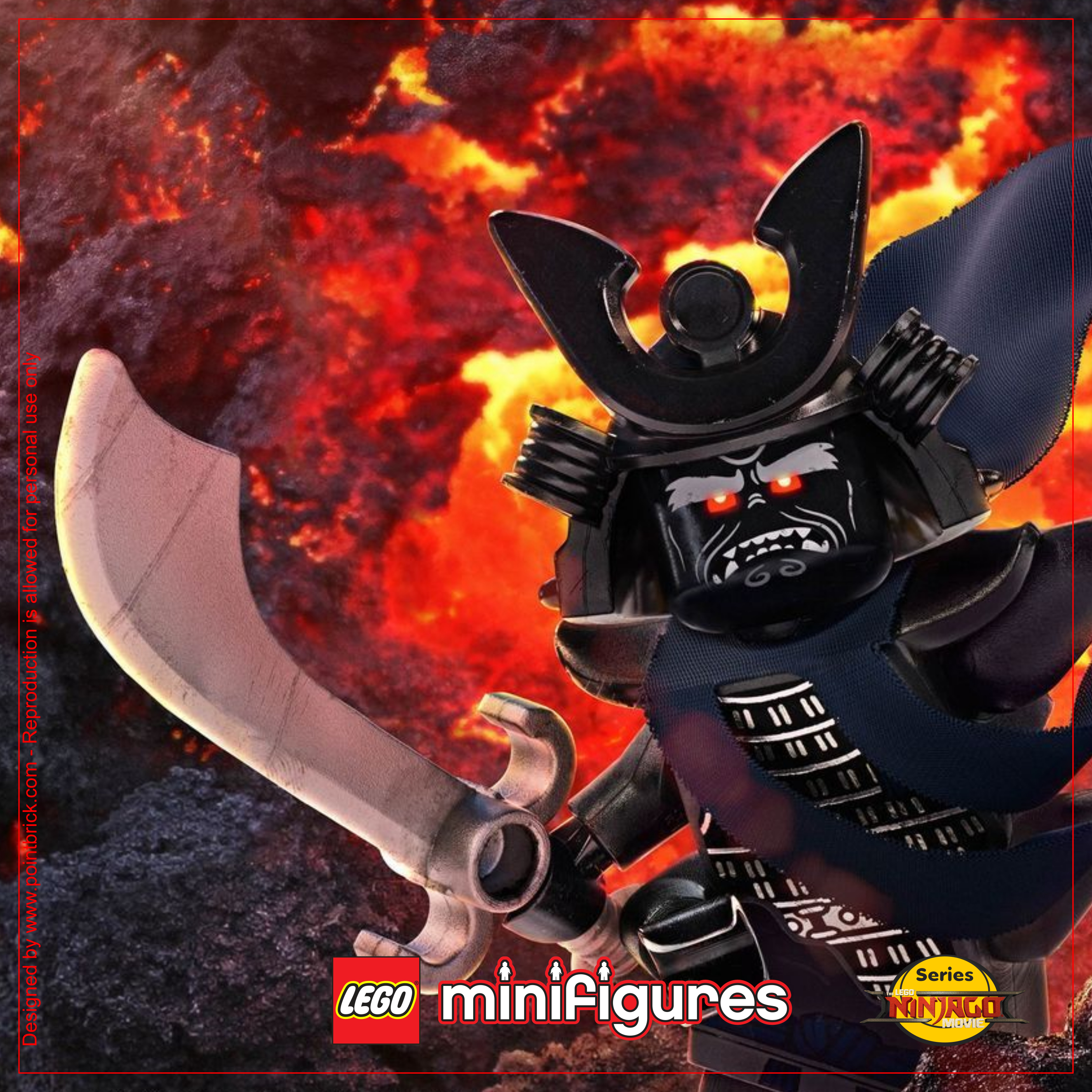 LEGO Minifigures 71019 The LEGO Ninjago Movie Garmadon - Display Frame Background 230mm plain - Clicca sull'immagine per scaricarla gratuitamente!