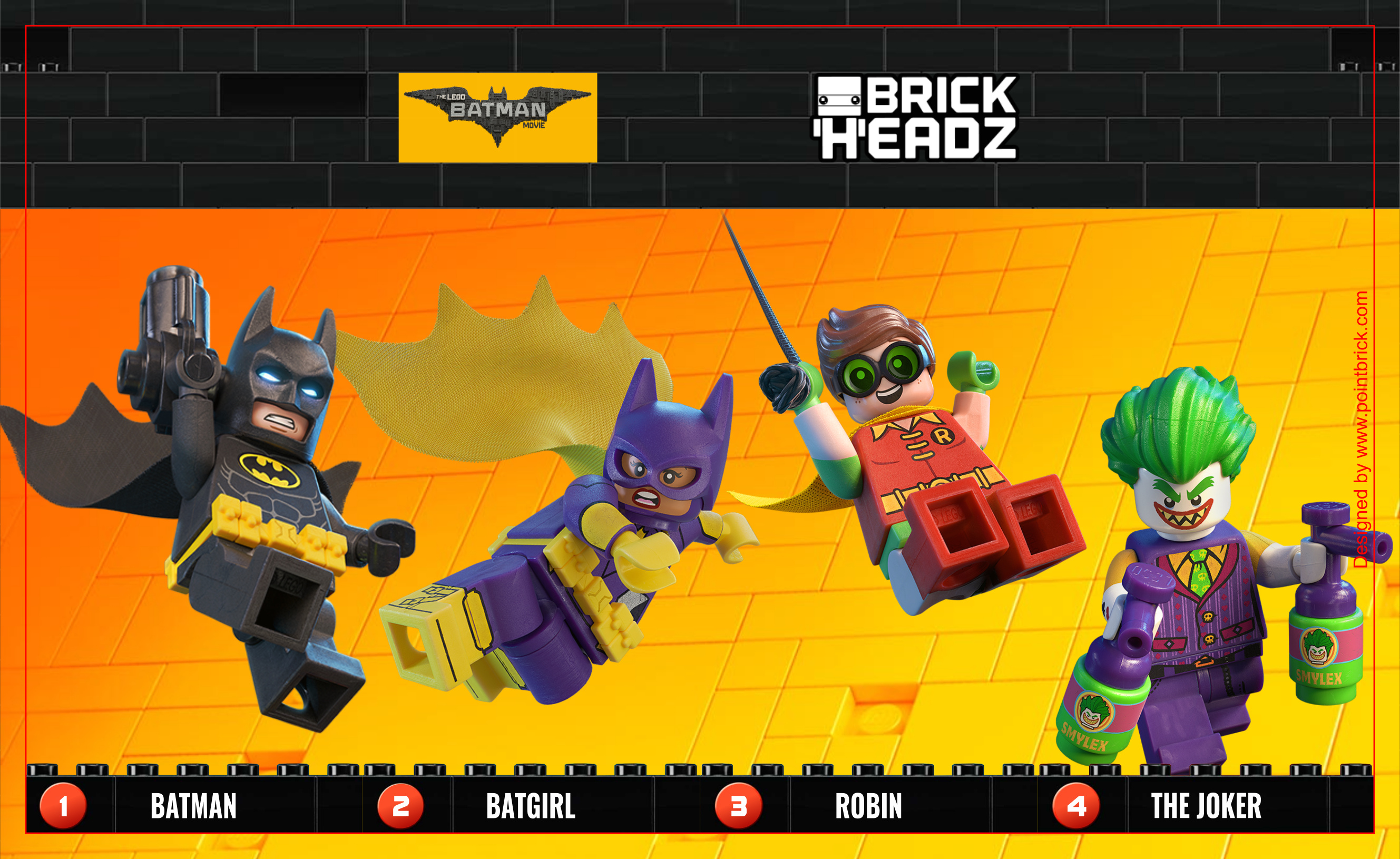 LEGO BrickHeadz Batman Movie - Background 130mm - Clicca sull'immagine per scaricarla gratuitamente!
