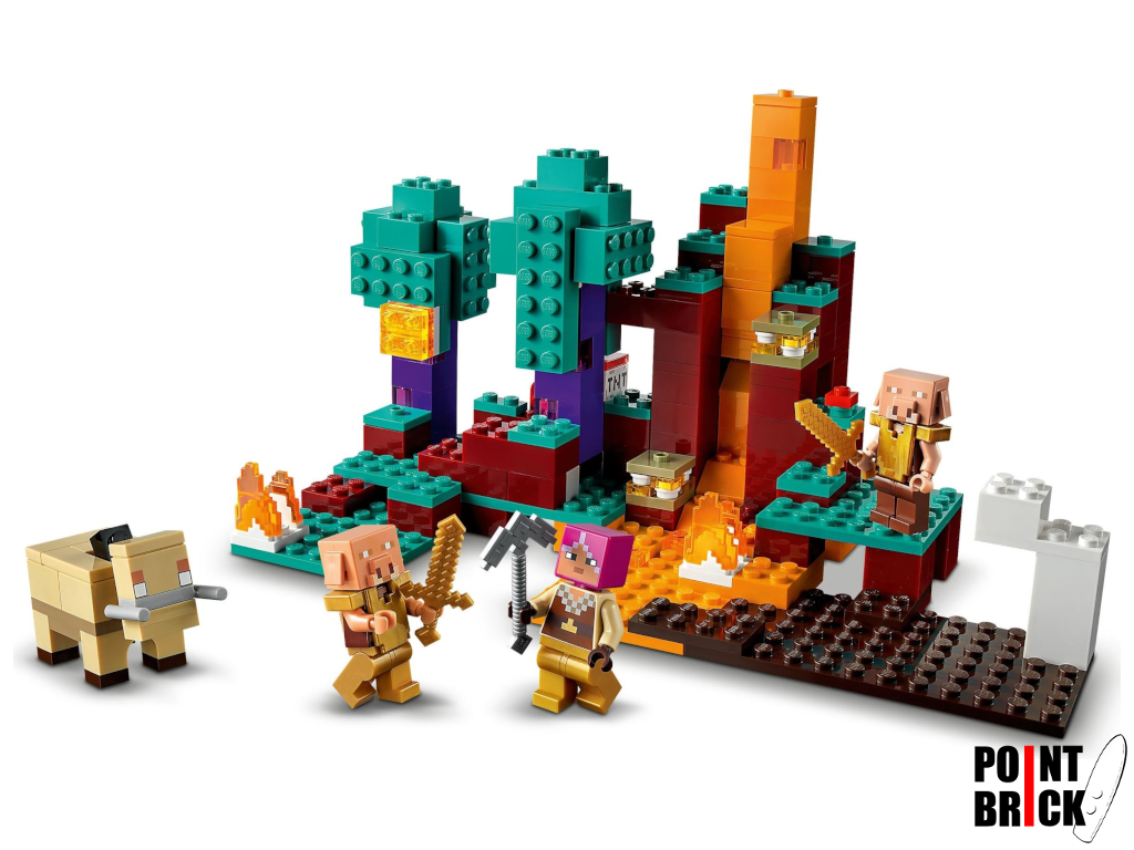 Dettaglio del set LEGO Minecraft - 21168 La Warped Forest