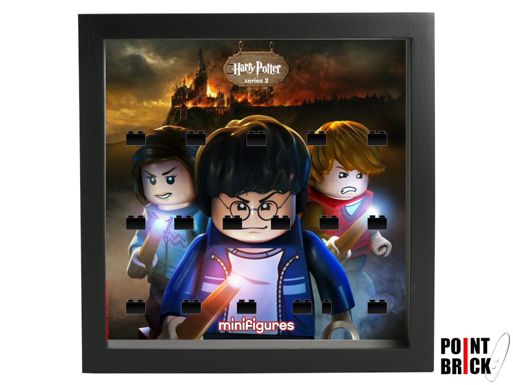 Dettaglio del set LEGO Display Frames / Cornici espositore per Minifigures - 7124904 Minifigures Display Harry Potter Serie 2 - Fire - Nero