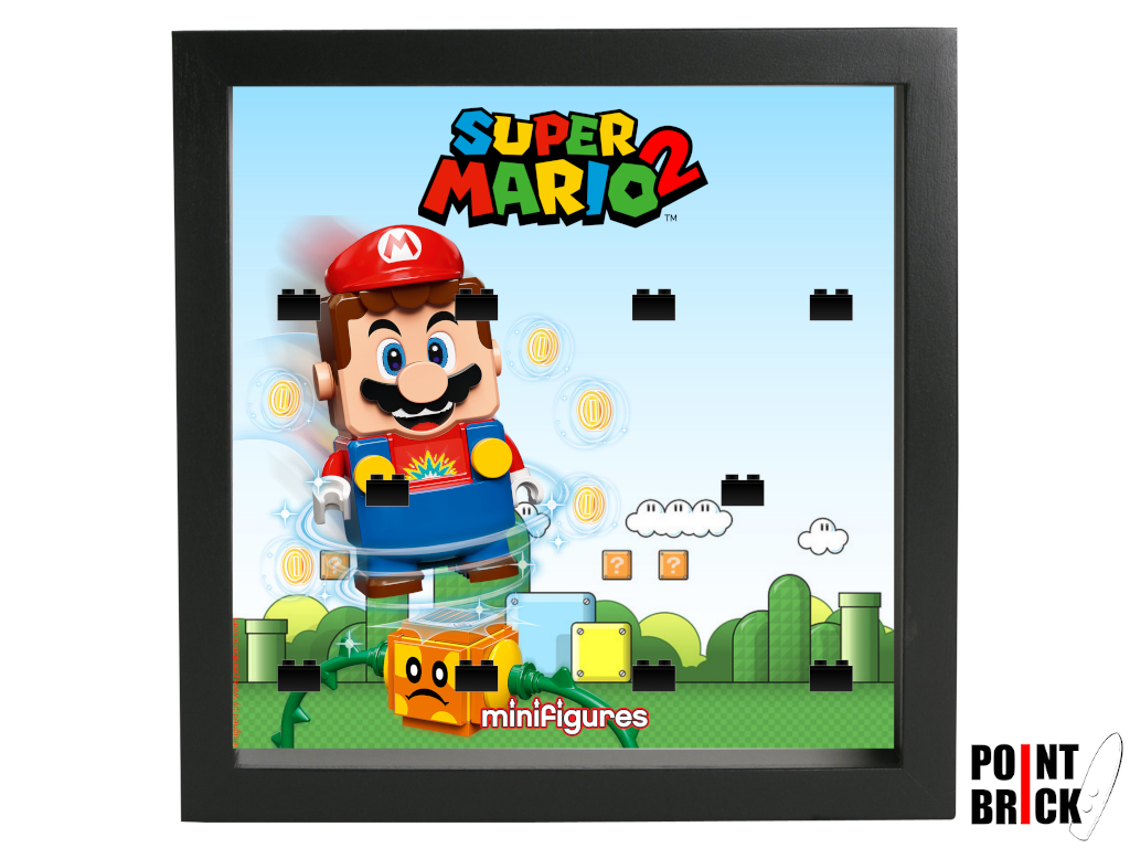 Dettaglio del set LEGO Display Frames / Cornici espositore per Minifigures - 7124916 Minifigures Display - 71386 Super Mario Serie 2 - Nero