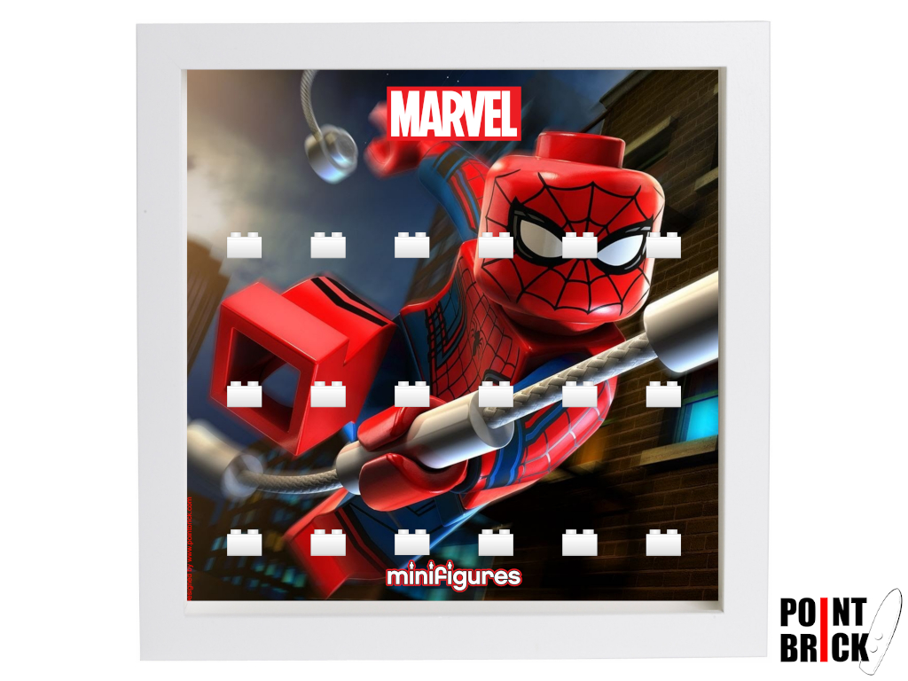 Dettaglio del set LEGO Display Frames / Cornici espositore per Minifigures - 7124965 Minifigures Display Frame MARVEL Super Heroes - Hulk Bianco