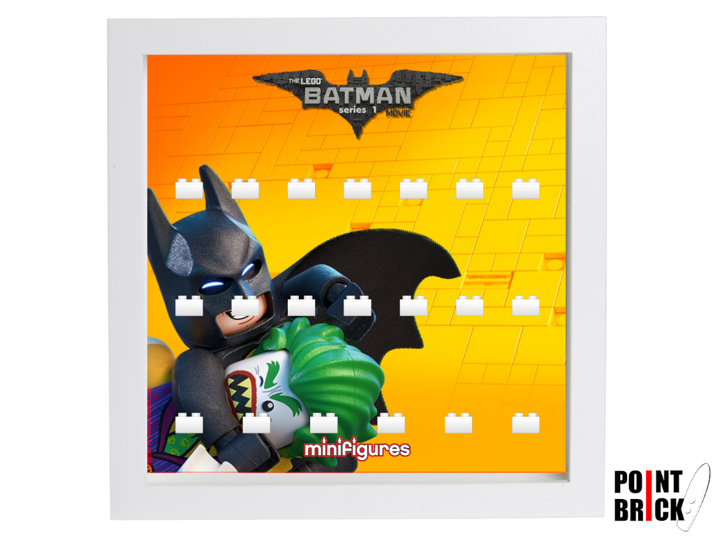 Dettaglio del set LEGO Display Frames / Cornici espositore per Minifigures - 7125001 Minifigures Display Frame Serie Batman Movie - 1 Bianco