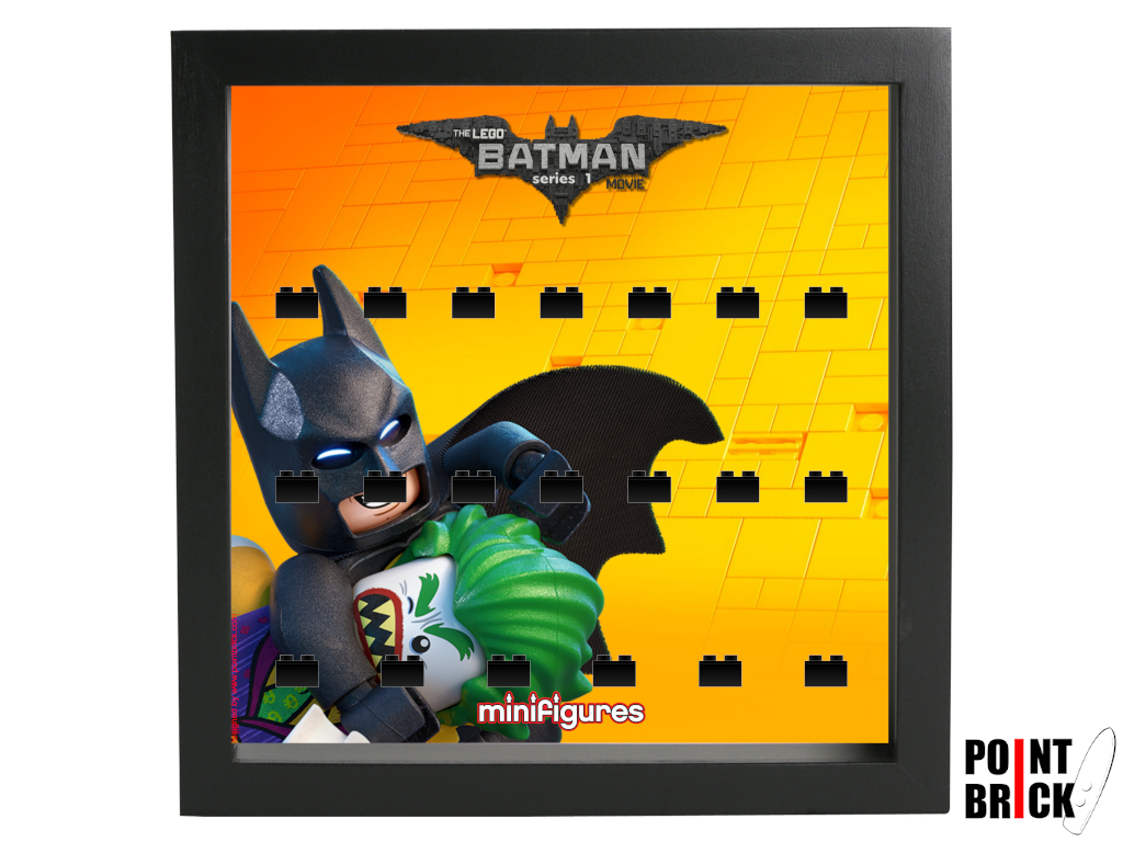 Dettaglio del set LEGO Display Frames / Cornici espositore per Minifigures - 7125002 Minifigures Display Frame Serie Batman Movie - 2 Nero