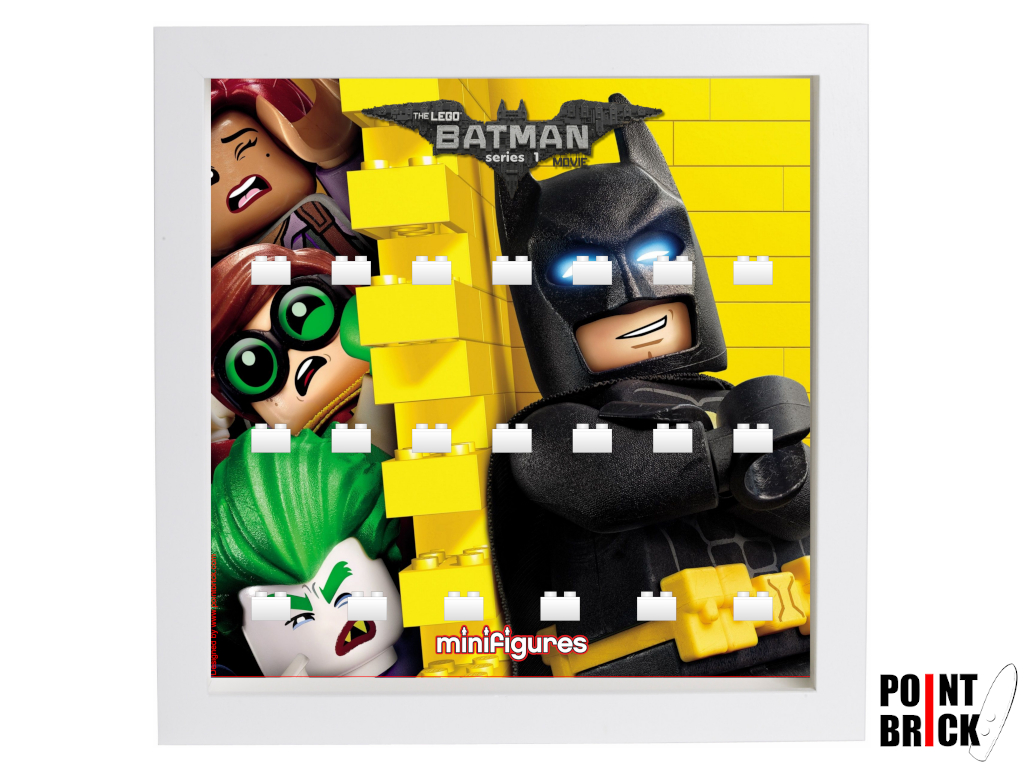 Dettaglio del set LEGO Display Frames / Cornici espositore per Minifigures - 7125003 Minifigures Display Frame Serie Batman Movie - 2 Bianco